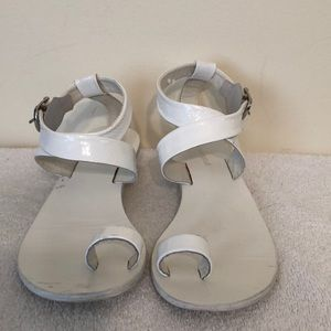 Jeffrey Campbell size 8 white leather sandal